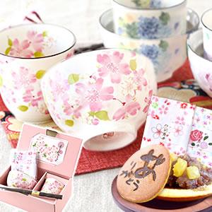母の日2021新作!茶碗4点セット&和菓子